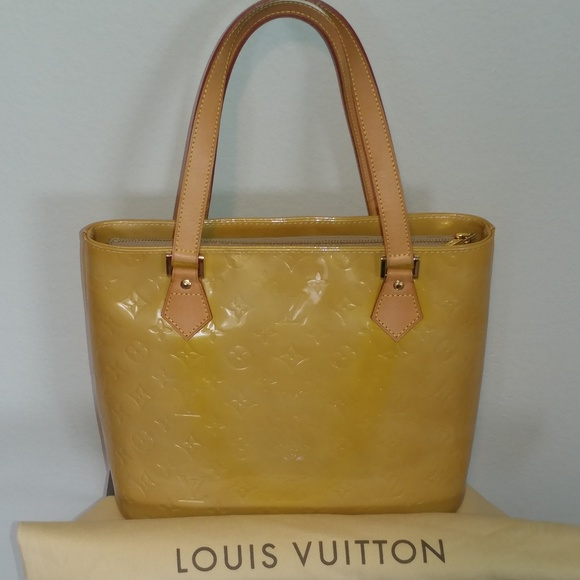Louis Vuitton Handbags - Authentic Louis Vuitton Yellow Vernis Houston Bag